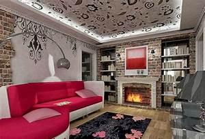 gunstige wandverkleidung mit kunststein With balkon teppich mit wohnzimmer tapete steinoptik