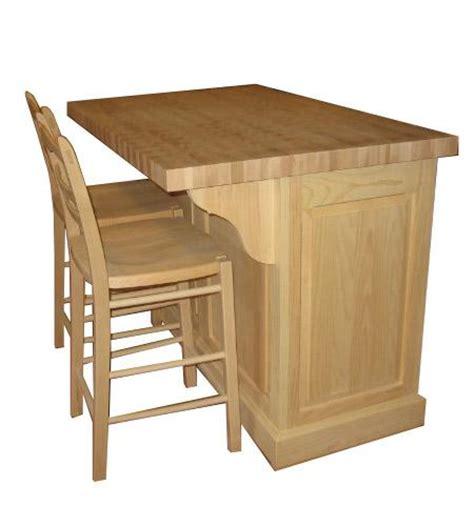 ilot cuisine avec table îlot bloc de boucher autre vue produit de bois