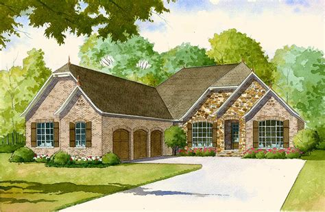 French Country House Plan With 2 Kitchens