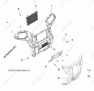 Polaris Atv 2013 Oem Parts Diagram For Body  Front Bumper