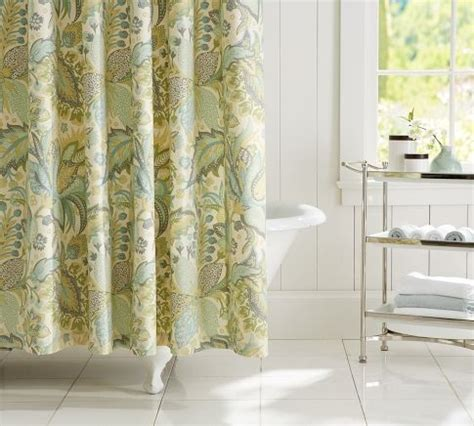 pottery barn shower curtains juliana floral organic shower curtain pottery barn guest bathroom pinterest showers