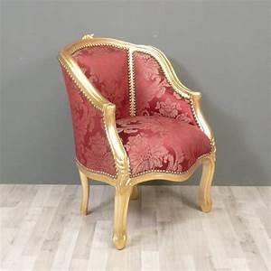 Fauteuil Bergère Pas Cher : fauteuil berg re louis xv rouge meuble de style ~ Teatrodelosmanantiales.com Idées de Décoration
