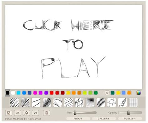 pencil madness flash game flash drawing games