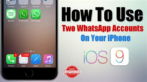 how to use numbers on iphone how to use two whatsapp accounts on your iphone without How T