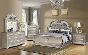 Master, Bedroom, Set, Antique, Platinum, Finish, B9506mf