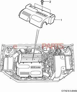 12788313 saab engine cover genuine saab parts from With saab kes diagram
