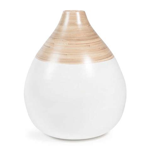 vase en bambou blanc   cm vintage maisons du monde