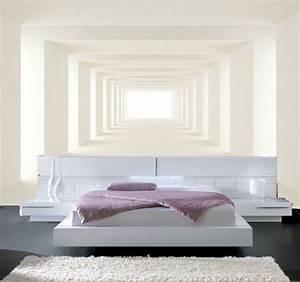 Papier Peint Blanc Relief : papier peint 3d trompe l 39 oeil photo murale relief 3d blanc moderne ~ Melissatoandfro.com Idées de Décoration