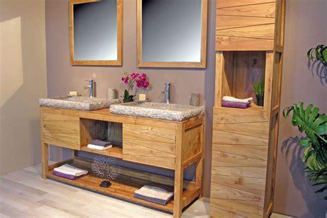 bureau sur tr eau salle de bain moderne en bois très nature meuble et décoration marseille mobilier design