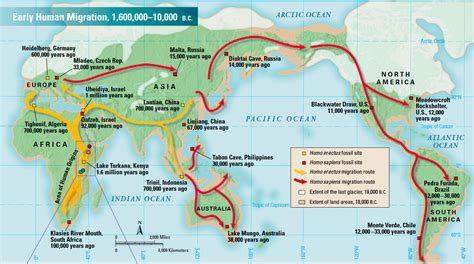 early human migration map prehistory  kids