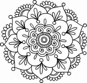 27 Mándalas para Colorear de Flores de Loto Mandalas para colorear