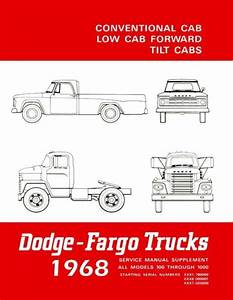 1968 Dodge Truck Shop Service Repair Manual Book Engine