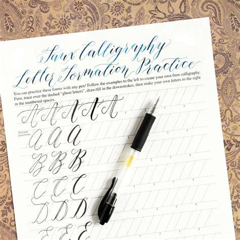 premium calligraphy worksheet set kaitlin style the