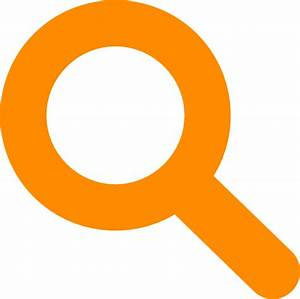 Search Icon Orange Clip Art at Clker.com - vector clip art ...