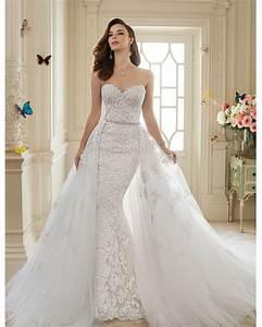 vestidos de novia 2016 viintage lace sexy mermaid wedding With wedding dresses with trains that detach