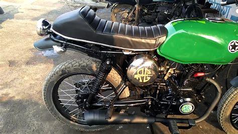 modified bajaj ct 100 to cafe racer