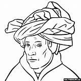Turban Eyck Van Jan Colorear Para Coloring Arte Pages Gotico Dibujos Artistas Obras Paintings Pequenos Laminas Colouring Elementary Ninos sketch template