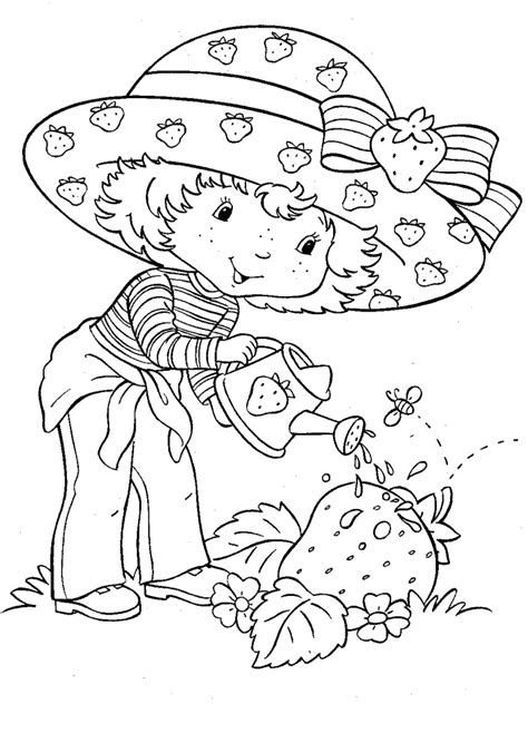 strawberry shortcake coloring pages team colors