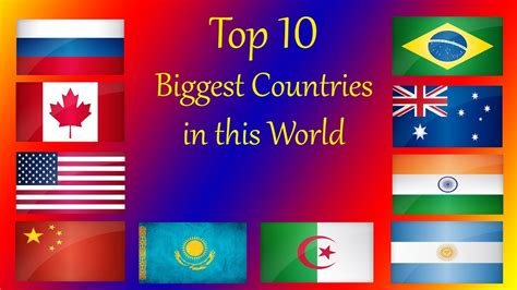 Top 10 Biggest Country In The World Hd Youtube