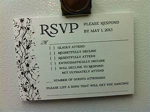 9 hilarious wedding invitations that simply cant be for Wedding invitation acceptance quotes