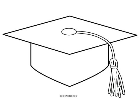 top of graduation cap template template graduation cap printable coloring pages page hat