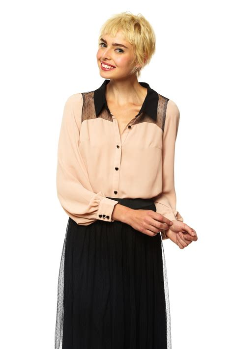 up blouse misshoe bishop sleeve button up blouse from nolita by miss