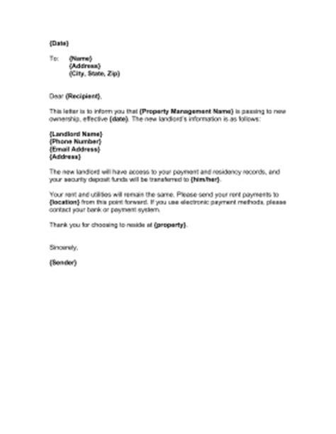 landlord change  ownership template