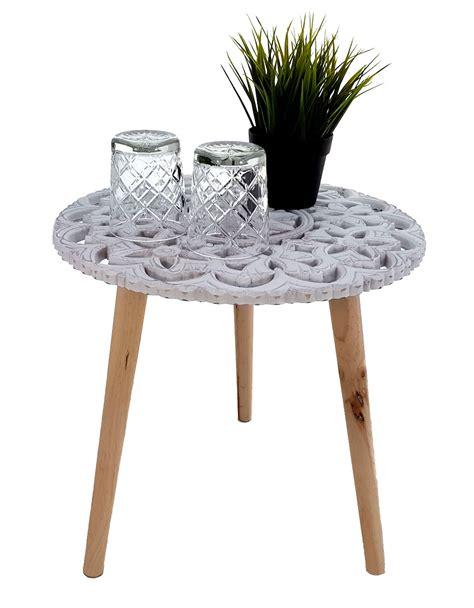 Couchtisch holz und metall weiß rund 80 cm lace 1 stéphane plaza. Design Beistelltisch Shabby Chic - Holz Deko Tisch klein ...