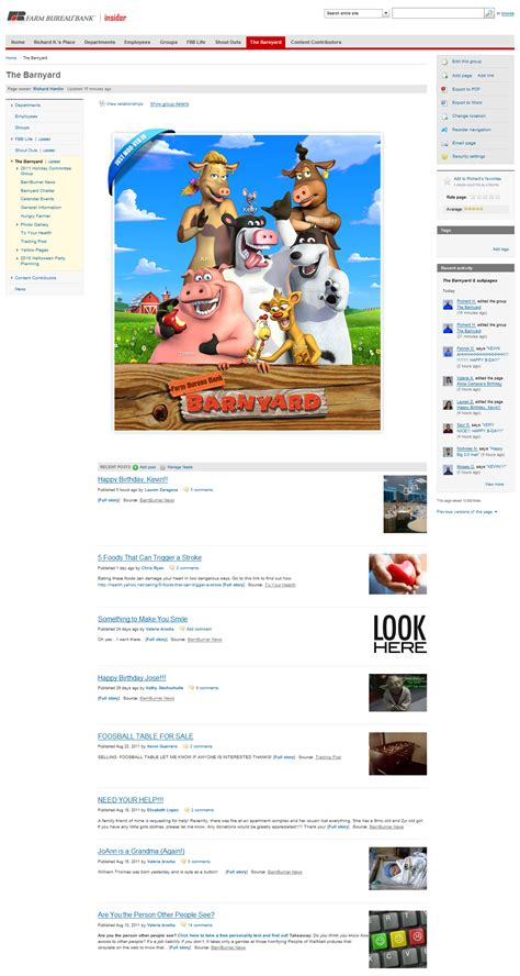 bureau social social media intranet software by thoughtfarmer farm