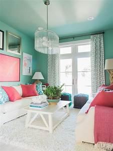 Salon Vert D Eau : salon turquoise et blanc free dco peinture chambre ~ Zukunftsfamilie.com Idées de Décoration