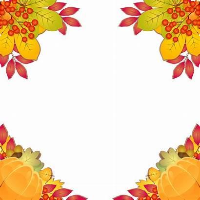 Border Fall Clipart Autumn Frames Corner Frame