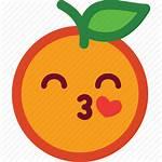 Funny Icons Orange Emoji Heart Icon Emoticon