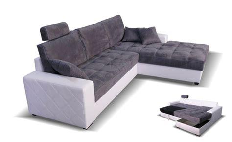 tetiere canapé canape d 39 angle à droite convertible mondo blanc microfibre
