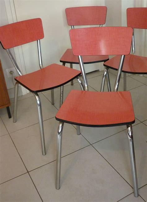 cuisine formica vintage vintage 4 chaises de cuisine en formica circa