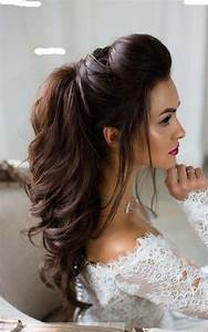 Half up half down long bridal hairstyle Modren Villa