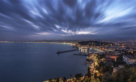 france, Coast, Houses, Lighthouses, Night, Nice, Cities ...