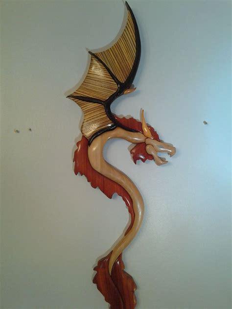 dragon intarsia  intarsia wood crafts woodworking