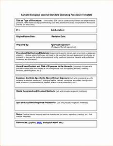 simple sop template for standard operating procedures With how to write a procedure manual template