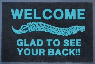 To See You To See You Doormat by Chiropractic Glad To See Your Back Doormat Chiropractic