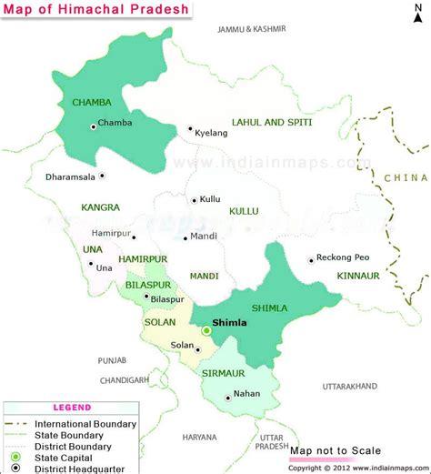 himachal pradesh district map political map  himachal
