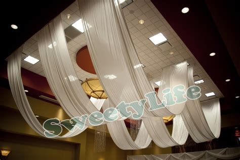 wedding  pieces ceiling drape canopy drapery