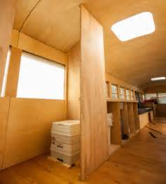 remodel mobile home interior student converts school to modern mobile cabin