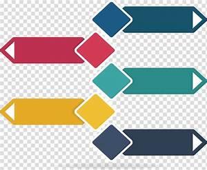 Infographic Diagram Icon  Color Diamond Title Box