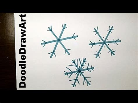 drawing   draw  easy snowflake step  step