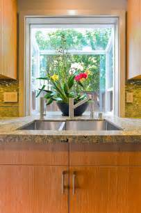kitchen sink with bay window
