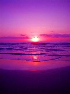 The shades of purple, pink, and red work well to create a ...