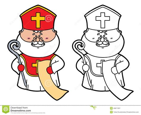 Funny St Nicholas Stock Vector Image Of Drawing