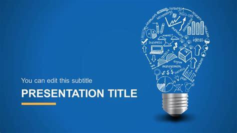 light bulb idea powerpoint template design