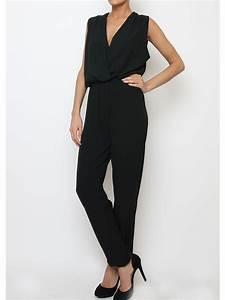Combinaison Pantalon Femme Mariage : combi pantalon chic femme noir http milena ~ Carolinahurricanesstore.com Idées de Décoration