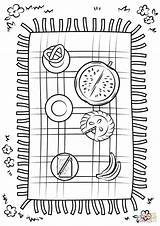 Picnic Blanket Coloring Pages Printable Drawing Designlooter Version Crafts Dot Categories 36kb 1500px 1060 sketch template